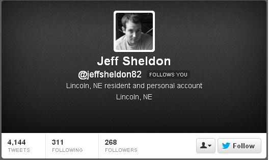 Jeff Sheldon - Twitter description - current 032313JPG